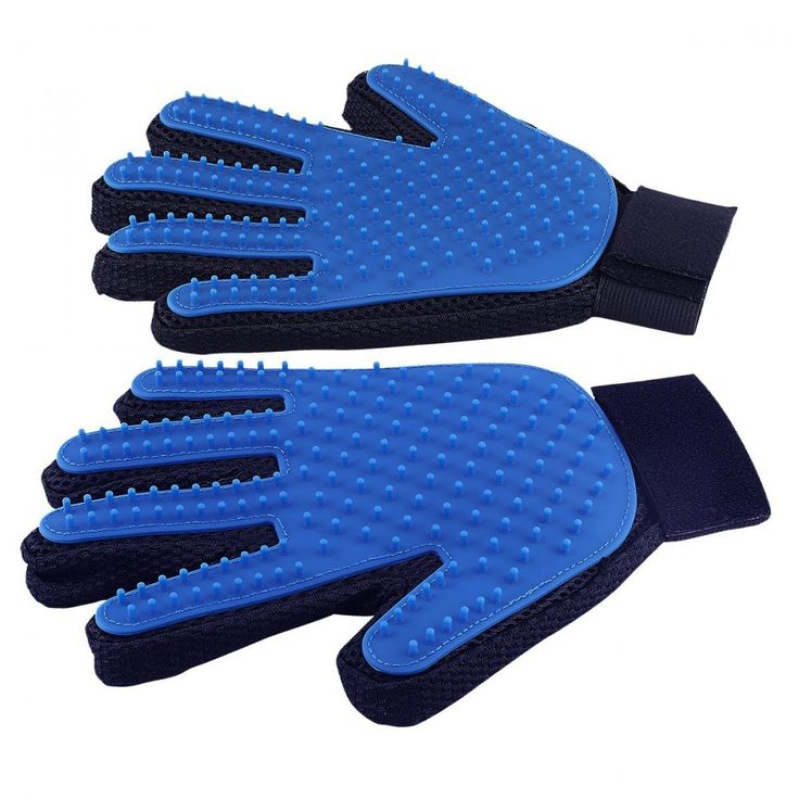 Pet Grooming Glove - Gentle Deshedding Brush Glove - Efficient Pet Hair Remover  #DELOMO