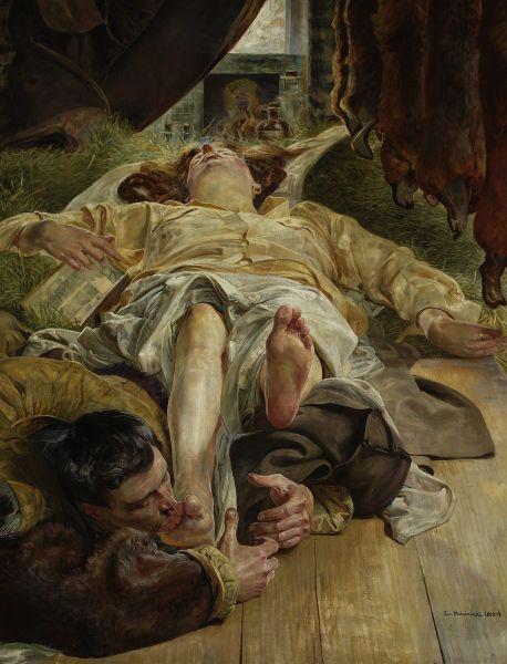 Śmierć Ellenai - Jacek Malczewski