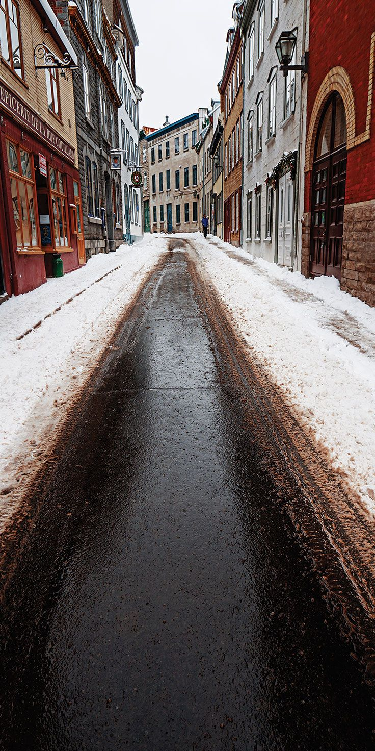 The icy streets of Quebec city, Montreal - by Lauren Bath