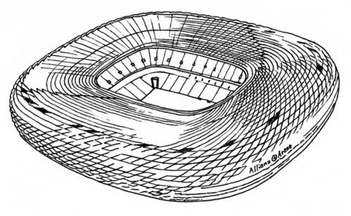 10 stadiums by Piotrek Chuchla, via Behance