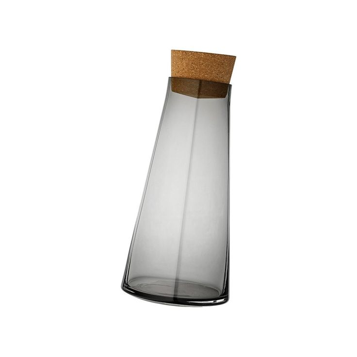 Contemporary AYTM Volvi Rolling Carafe/Wine Decanter with Lid - Scandinavian