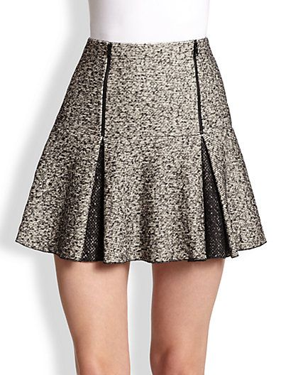 Robert Rodriguez - Flippy Pleated Twill Mini Skirt - Saks.com