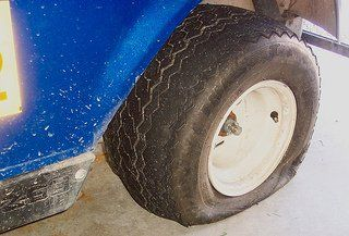 What to do if you have a golf cart tire leak.