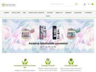 Bio Alchimia este un magazin online ce a luat nastere din pasiunea noastra pentru un stil de viata sanatos, dar si din iubirea si respectul fata de armonia pe care ne-o ofera natura.  Oferim produse cosmetice naturale, biologice si vegan de inalta cali