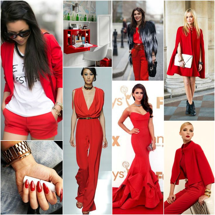 "Next to black and white, red is is my favorite colour to wear... ? // Polish blogger Maria analyses shades of red right for each season type: FIRE-ENGINE RED ""Right for all season types""."