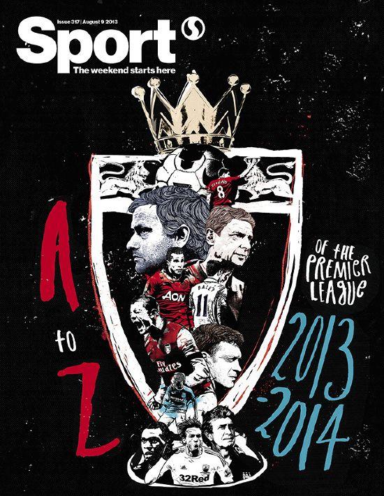 A-Z of the Premier League/Sport mag Peter Strain Illustration