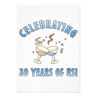 30ème Cadeaux de fête d'anniversaire Cartons D'invitation