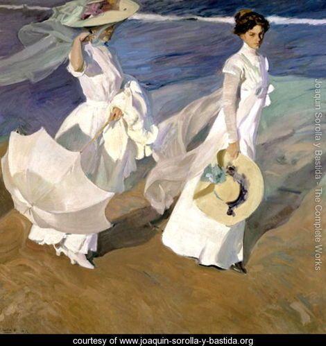 Strolling along the Seashore, 1909 - Joaquin Sorolla y Bastida - www.joaquin-sorolla-y-bastida.org