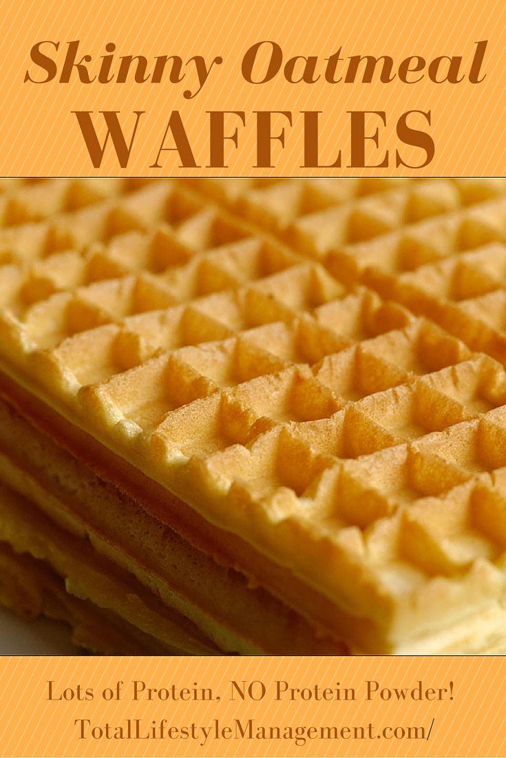 Skinny Oatmeal Waffles - Paleo and Gluten Free