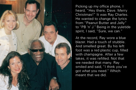 "Dave Holloway, working with Ray Charles in Los Angeles for a ""Got Milk"" radio commercial (2002). Cf. http://raycharlesvideomuseum.blogspot.nl/2010/07/ray-charles-ft-in-got-milk-campaign.html"