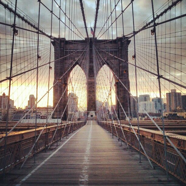 Brooklyn Bridge in New York, NY
