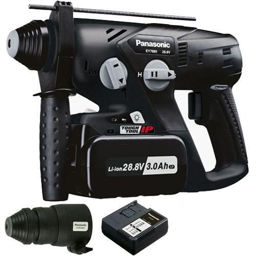*CLICK TO ENLARGE* Panasonic EY7880 28.8V SDS-Plus Rotary Hammer Drill (1x 3.0Ah)