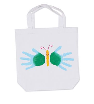 handprint tote bag