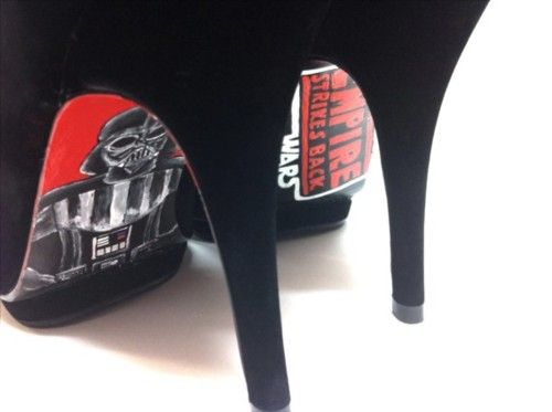 Star Wars heels, but would be cool to pain a little pop of any of your personal nerdy pleasures :p