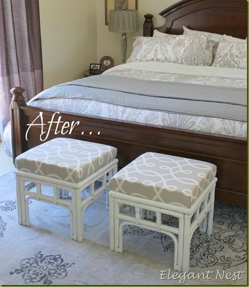 stools: Peace Bedrooms, Bedrooms Stools, Side Tables, Decor Ideas, Tables Turning, Garage Sales, Stools Makeovers, Tables Makeovers, Beautiful Bedrooms