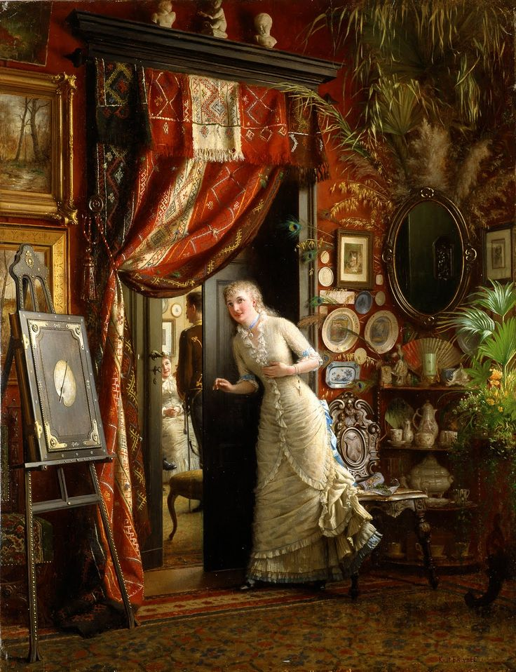 """Painting, """"The Proposal"""", 1880's"""