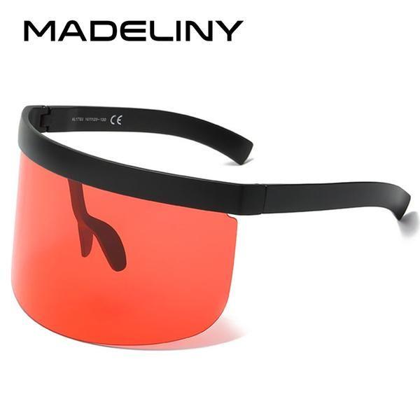 #FASHION #NEW MADELINY New Oversized Women Sunglasses 2018 Huge Vintage Windproof Men Eyewear Shield Sun Glasses Female Goggle MA249