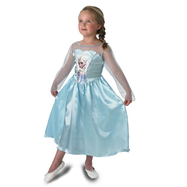 Verkleed je als Elsa van Disney Frozen met deze sprookjesachtige jurk.