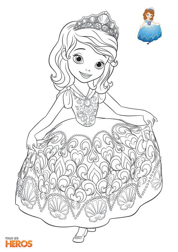 14 best coloriage princesse sophia images on pinterest coloring pages princess coloring pages. Black Bedroom Furniture Sets. Home Design Ideas