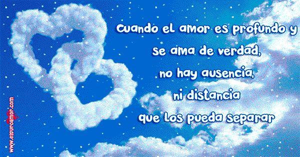 Frases de amor a distancia con cielo - http://espuroamor.com/2014/06/frases-de-amor-a-distancia.html #Imagenesdeamor, #Imagenesdecorazones, #Reflexionesdeamor