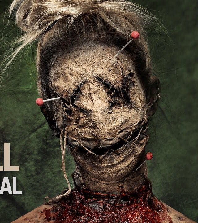 I love the blood and gore ad the used of the thread weaving through the mouth section. I like mixing the idea of voodoo/sacrafice with the scarecrow to create my own character.