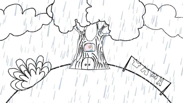 "Illustration for our new video ""Rain, Rain, Go Away"""