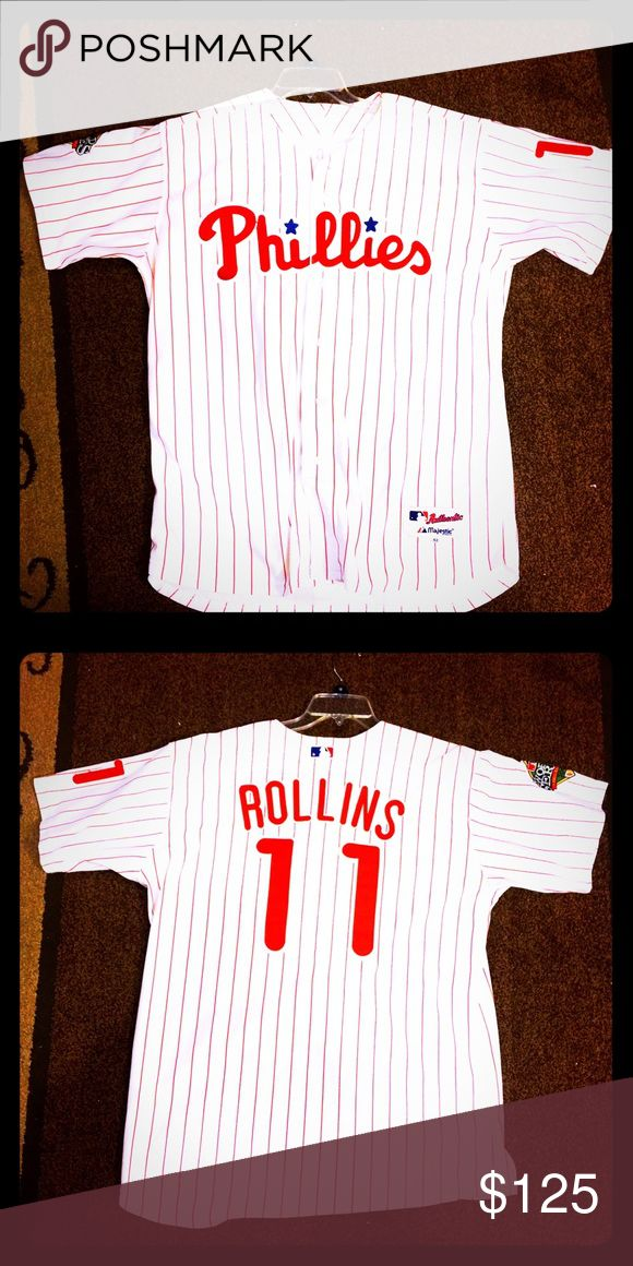 2008 World Series Champion Jimmy Rollins Jersey ⚾️ The franchise all time hits leader Jimmy Rollins 2008 World Series Version home series addition jersey grab this rare steal⚾️ Majestic Other