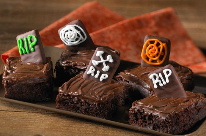 Tombstone Brownies tombstone brownies halloween pinterest brownies ...