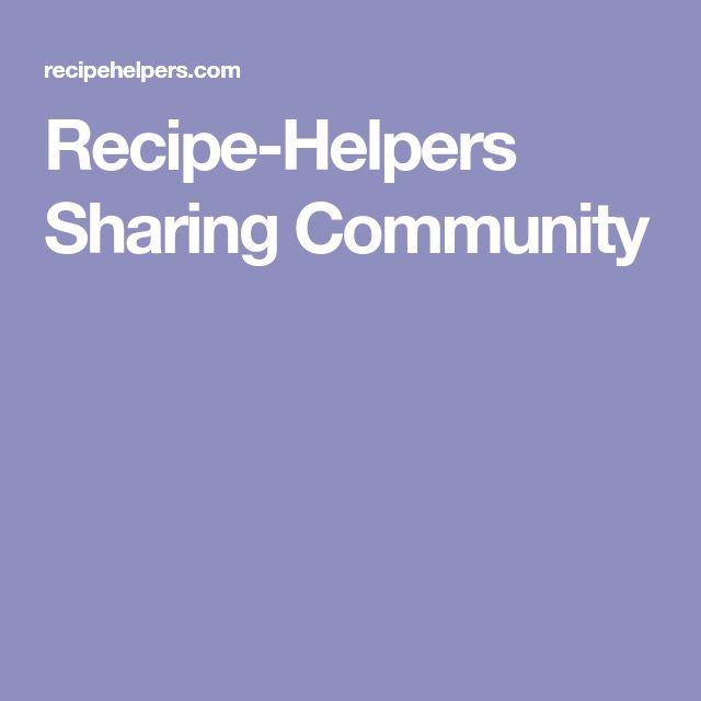 Recipe-Helpers Sharing Community