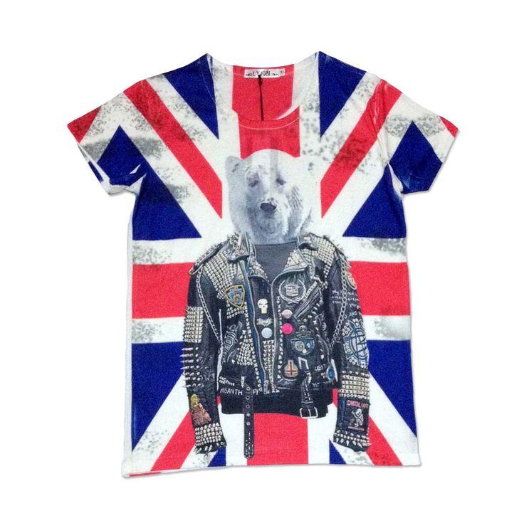 Camiseta Punk Bear