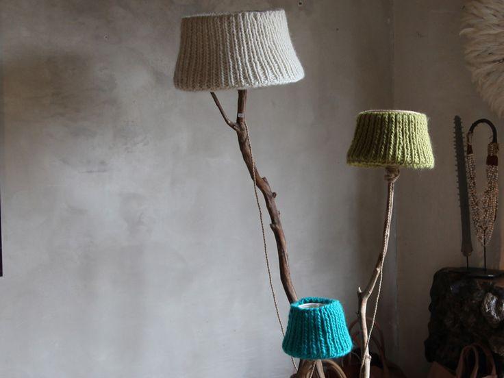 Stehlampen - StehLeuchte mit weißem Lampenschirm - ein Designerstück von Dutch-Dilight- bei DaWanda