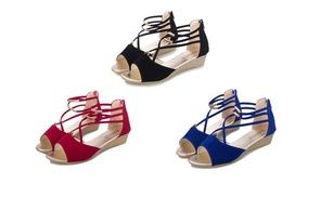 Groupon - Women's Open Toe Wedges Girls Platform T Strap Sandals Shoes. Groupon deal price: $13.58