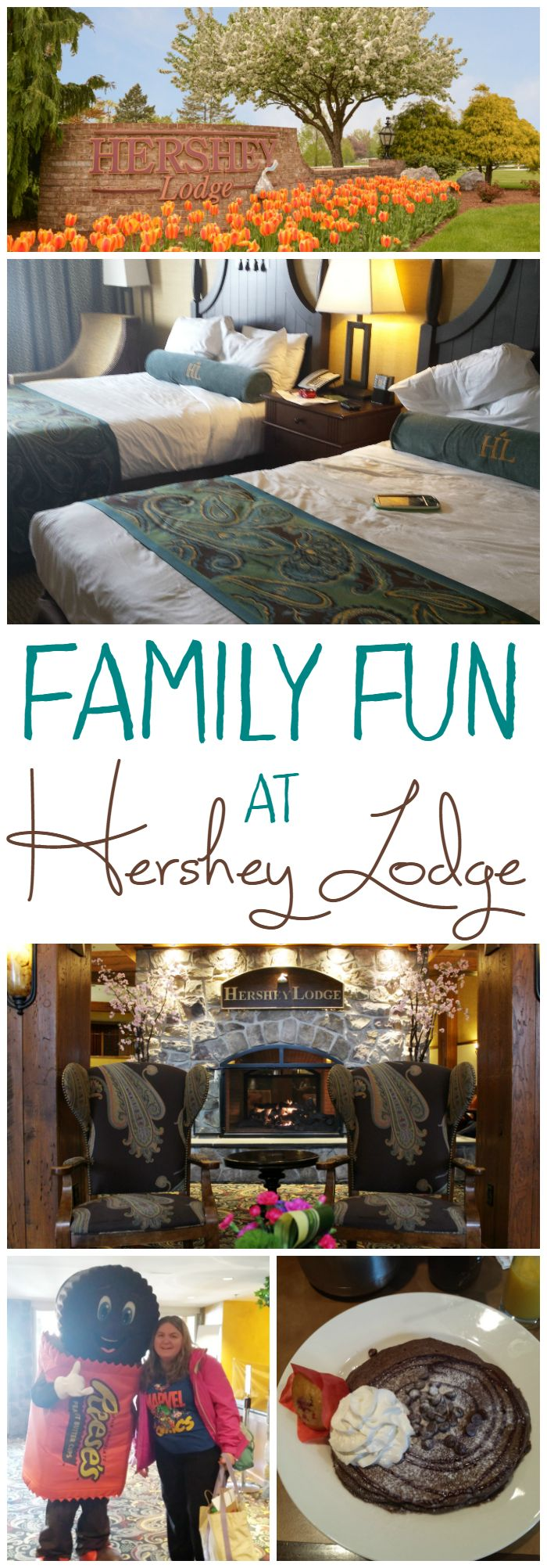 Hershey Lodge in Hershey, PA is truly a resort for the family! From activities, character appearances, and several dining options, they have you covered!