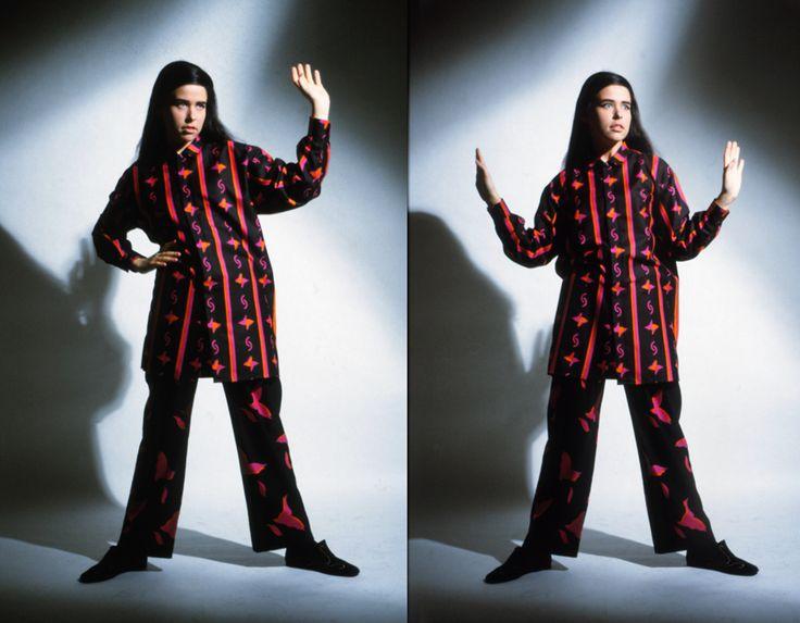 """Picasso"" shirt , ""Paloma""- trousers and both printed fabrics for Marimekko. (-91)"