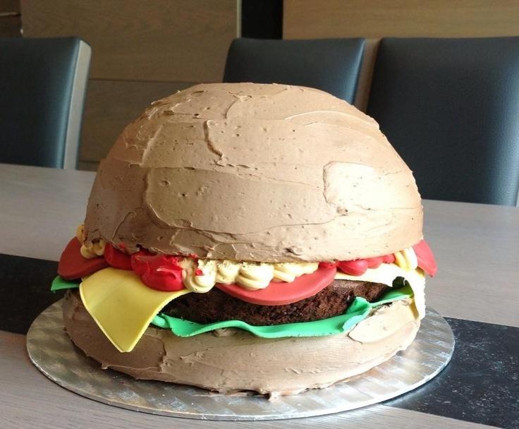 Vaderdag taart Hamburger