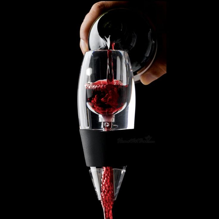 """Vinturi Wine Aerator - Who wants to wait for wine to breathe?  Makes inexpensive reds taste SO much better.  This wine aerator is a """"must have"""" for any wine-o, er, I mean wine lover!"""