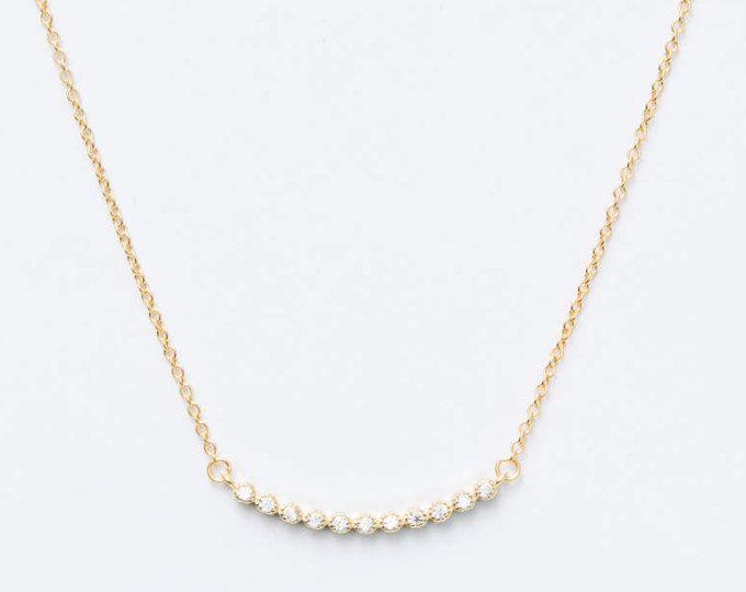 Gouden sierlijke ketting - minimale ketting - gelaagdheid ketting - korte ketting - kleurrijke halsketting
