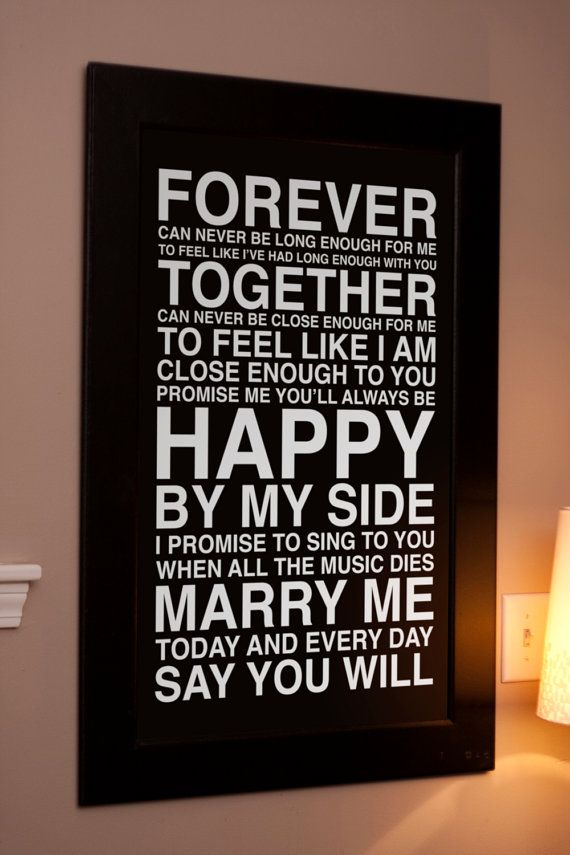 lyrics from Marry Me by Train<3