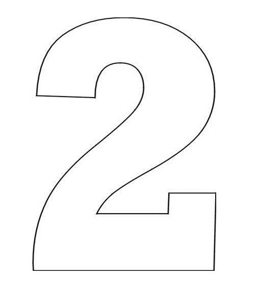 Two coloring pages in one ~ Coloring Pages Stencil of Number 2 | Coloring pages ...