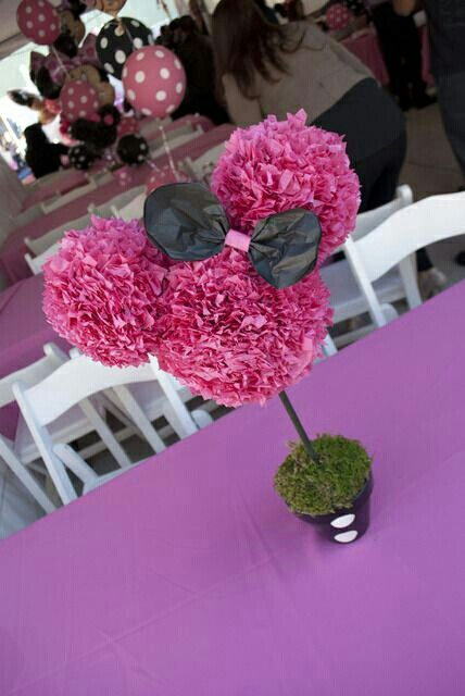 Minnie mouse candy bar centerpiece pinterest