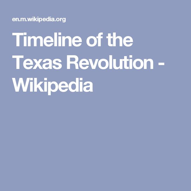 Timeline of the Texas Revolution - Wikipedia