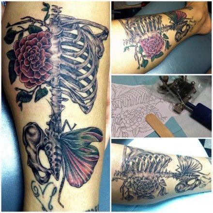skeleton rib cage tattoo designs | Addicted to Ink | Pinterest