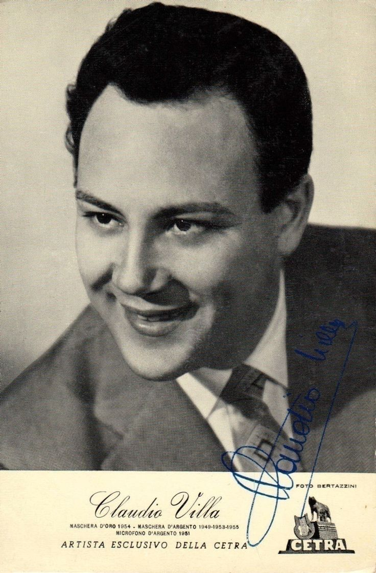 Crooner and movie star Claudio Villa, 'il Reuccio' [the Little King], one of the all time most successful Italian singers. He won the Sanremo Festival in 1955, 1957, 1962 and 1967.
