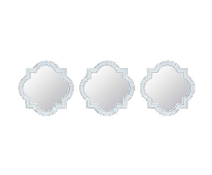 Набор из 3 зеркал - стекло - белый - Д25 см | Westwing Интерьер & Дизайн
