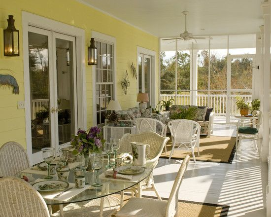 12 best images about if i had sunroom on pinterest for Screened porch furniture layout