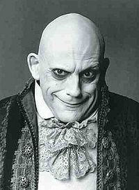 Christopher loyd as Uncle Fester in The Addams Family movie