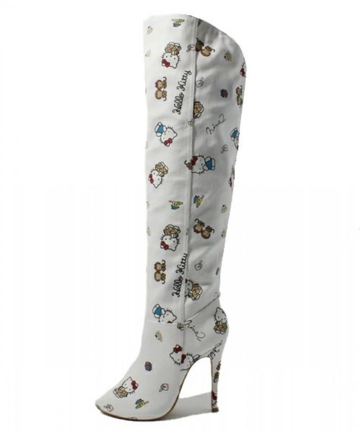 I cant believe these are $400 Hello Kitty x Nina Mew Knee High Boots High Heel Shoes Sanrio from Japan Z2014 | eBay