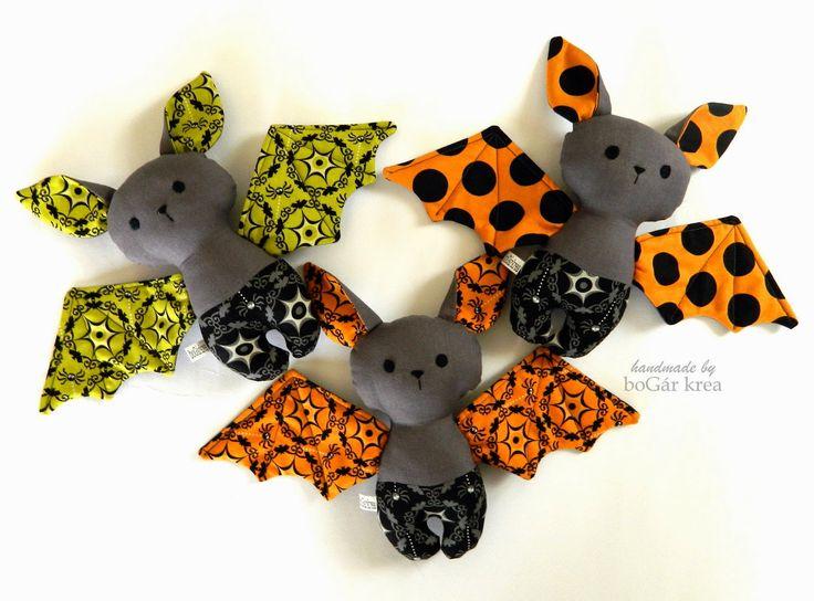 Baby bats, handmade softies by boGar krea