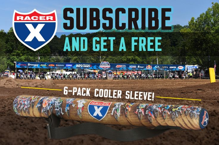 %TITTLE% -   Headed to the Rocky Mountain ATV/MC AMA Amateur National Motocross Championship at Loretta Lynn's this week?  Don't forget to stop by the Racer X Booth and get a FREE 6-Pack Racer X Cooler Sleeve with the purchase of a one-year subscription for as low as $10. You also will receive... - http://acculength.com/motocross/subscribe-at-loretta-lynns-and-get-a-free-6-pack-cooler-sleeve.html