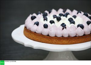 La tarte cassis et myrtilles de Cyril Lignac